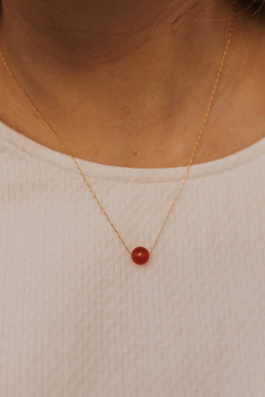 Red Gem Necklace | ROOLEE