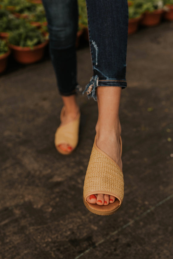 Natural Woven Flats | ROOLEE