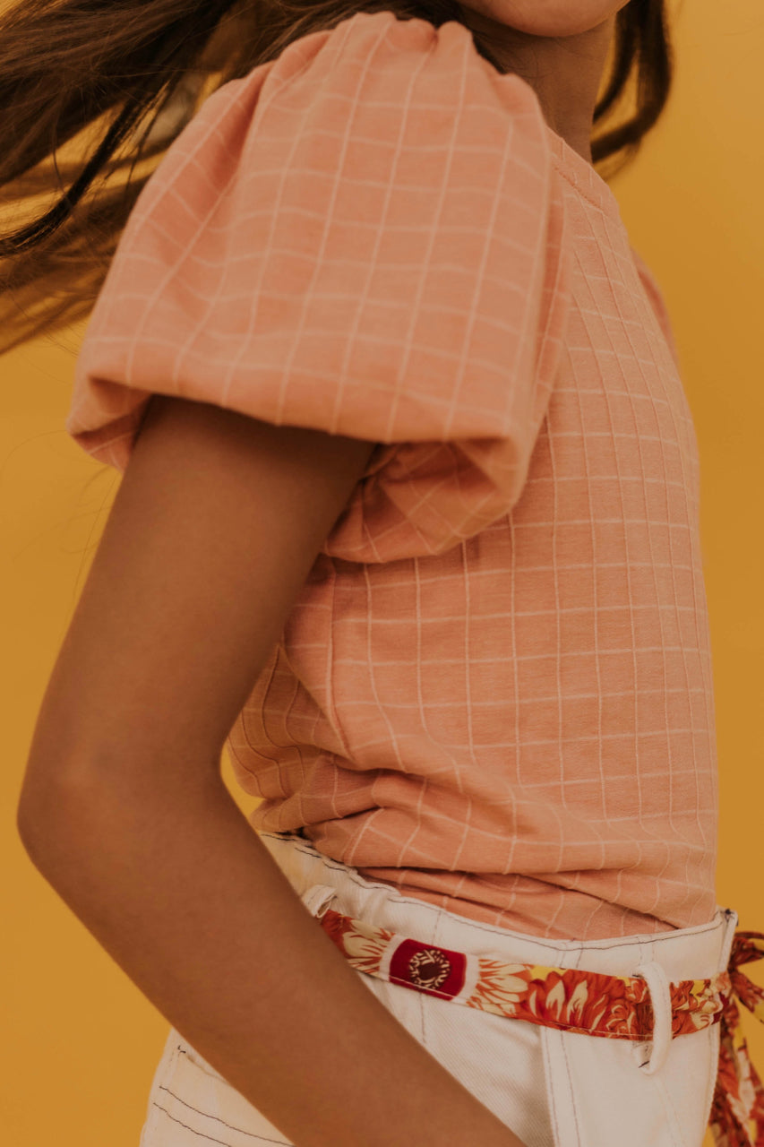 Girls Peach Top | ROOLEE