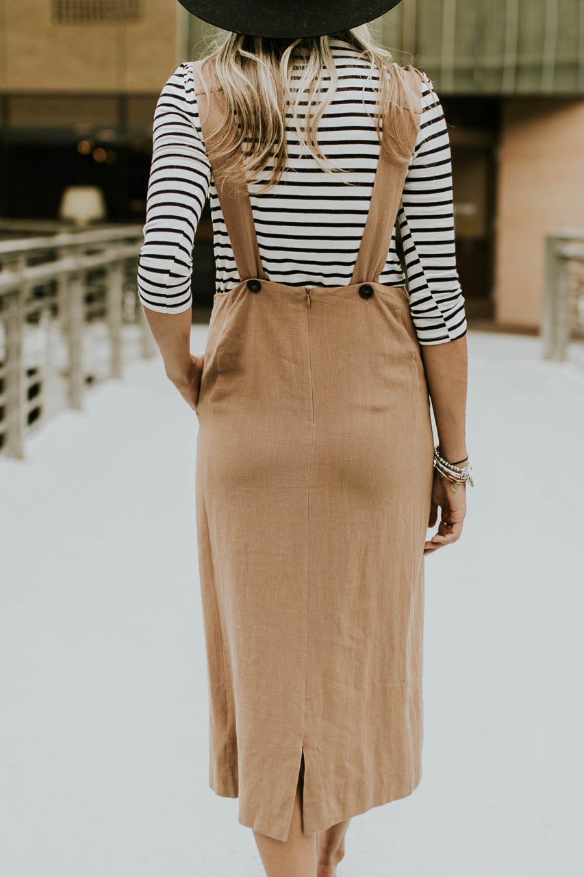 Adjustable Strap Overall Dress | ROOLEE