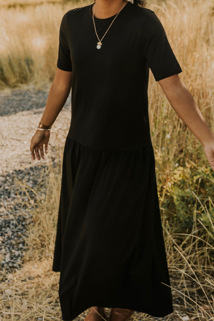 Simple Black Maxi | ROOLEE
