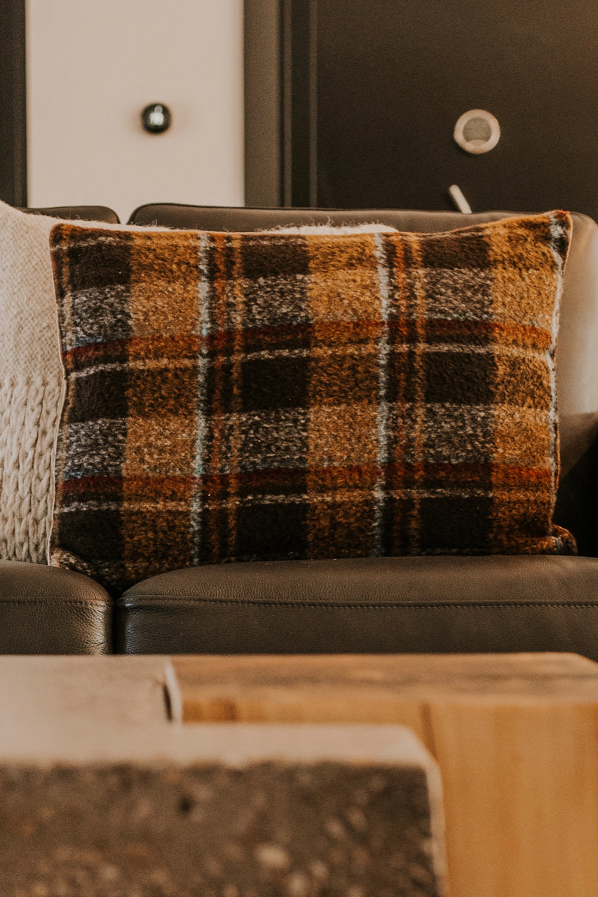 Large Plaid Pillow | ROOLEE