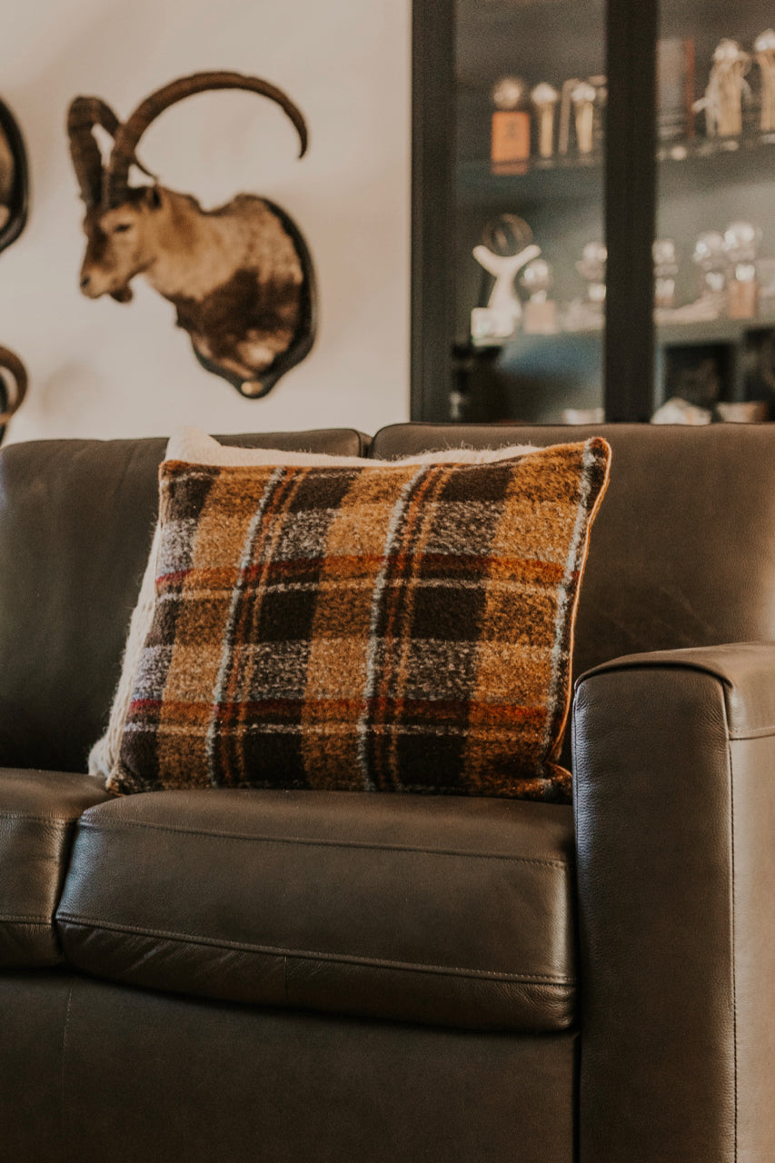 Plaid Pillow for Fall Decor | ROOLEE