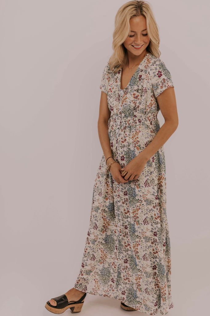 Modest Floral Maxi Dress for Summer | ROOLEE