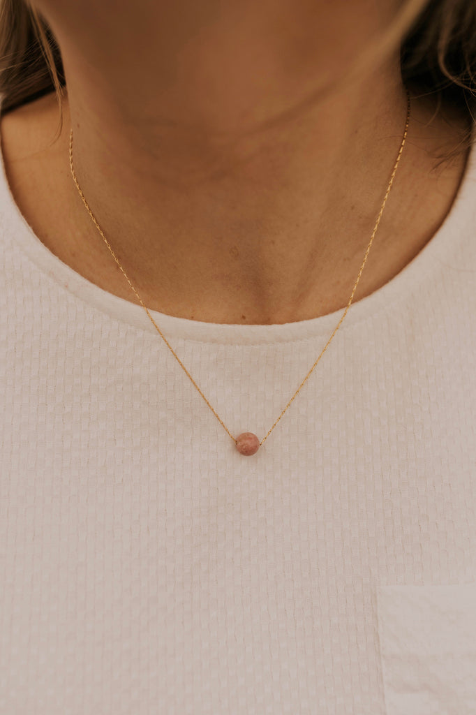 Peach Gem Necklace | ROOLEE
