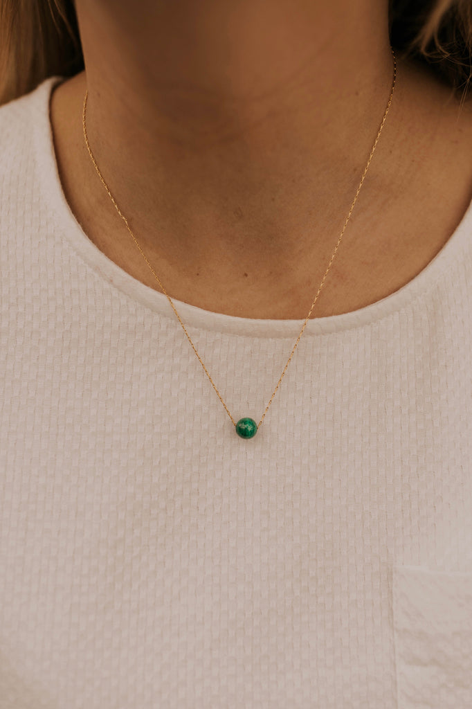 Blue Gem Necklace | ROOLEE