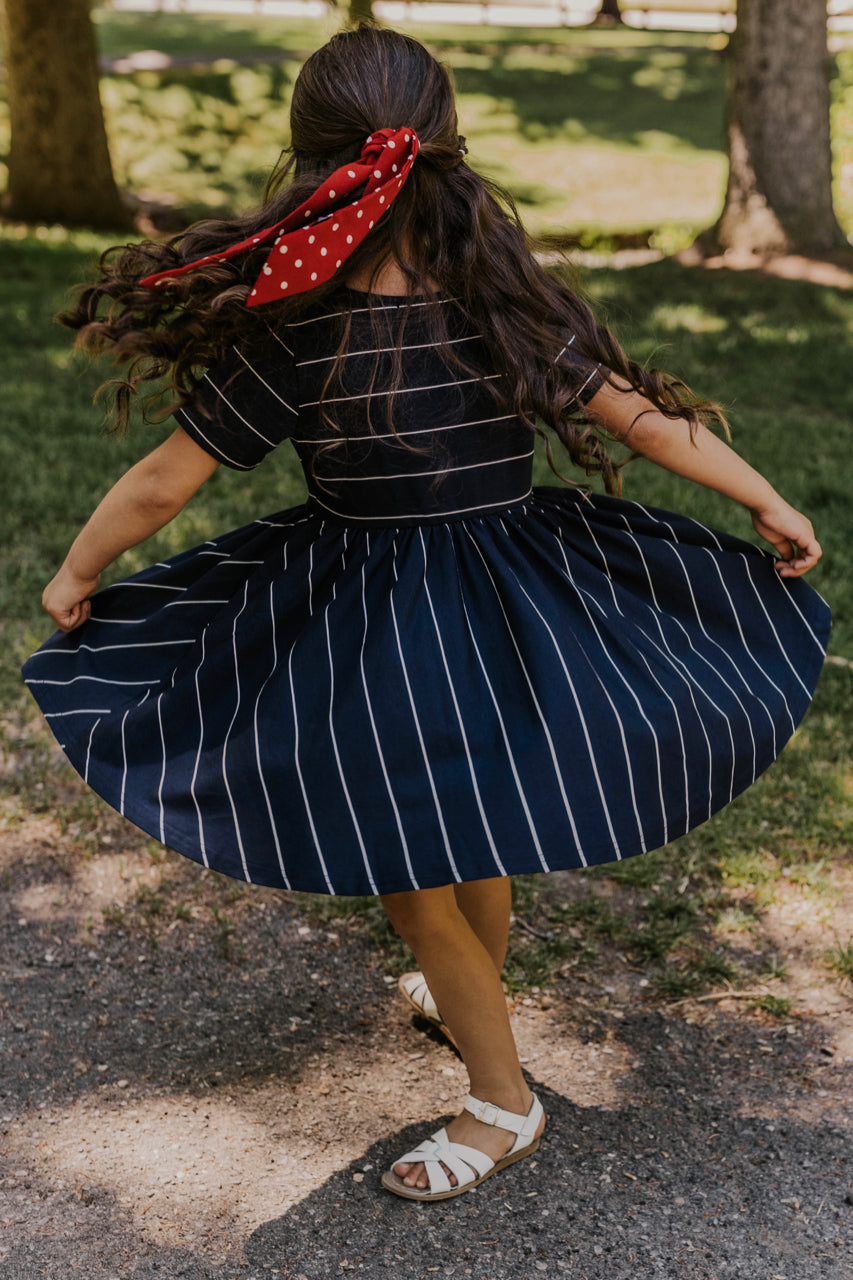 Girl's Striped Dress | ROOLEE