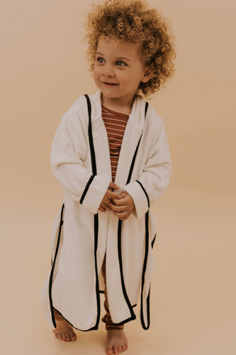 Kids White Robe | ROOLEE