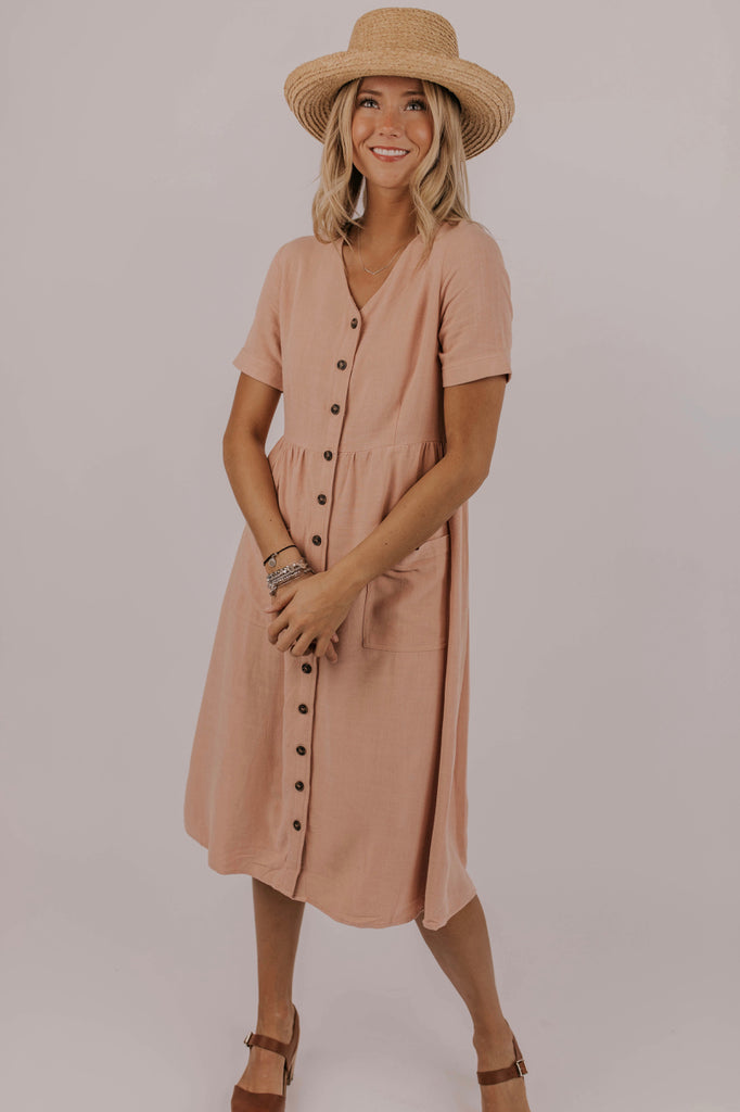 Mauve Nursing Friendly Dress | ROOLEE