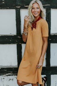 Lyndee Stripe Dress | ROOLEE