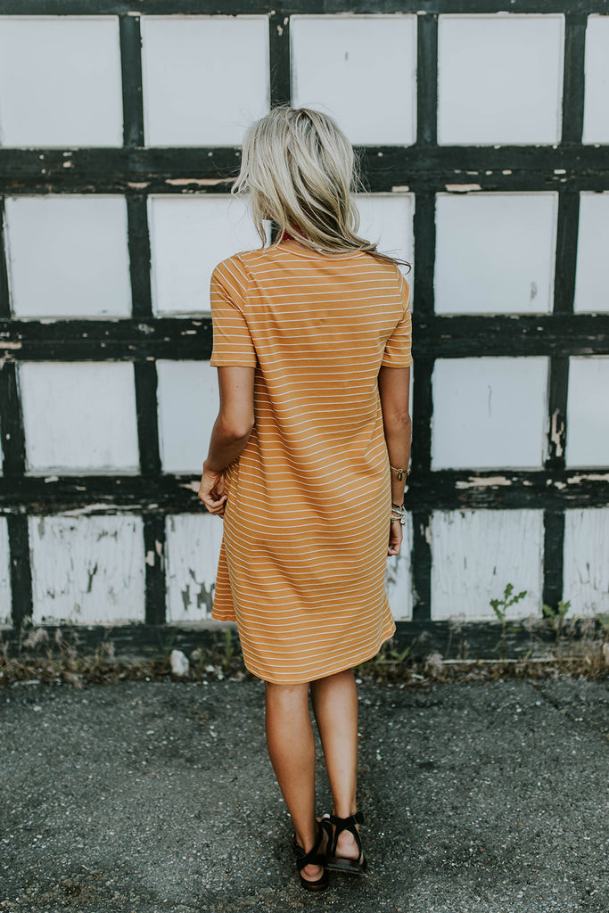 Stripe Shift Dress | ROOLEE