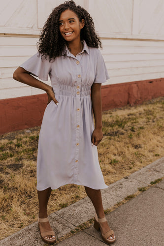 Debbie Button Dress | ROOLEE