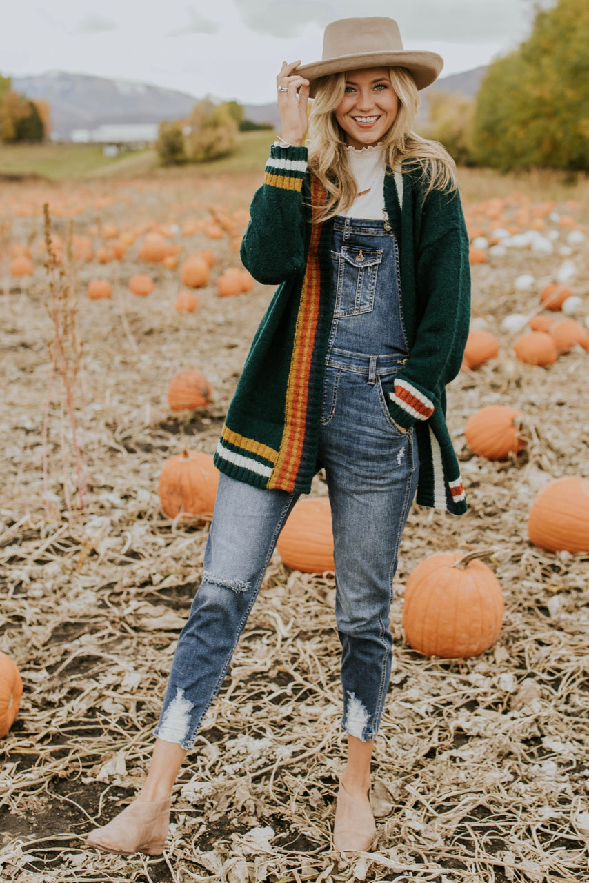 Stripe Cardigan Outfit for Fall | ROOLEE