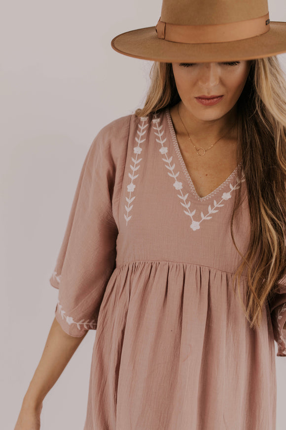 V-Neck Dress | ROOLEE