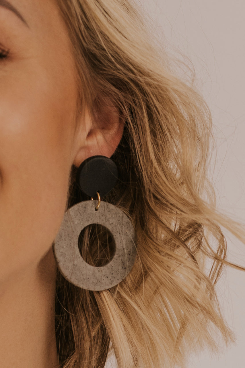 Circle Grey Earrings | ROOLEE