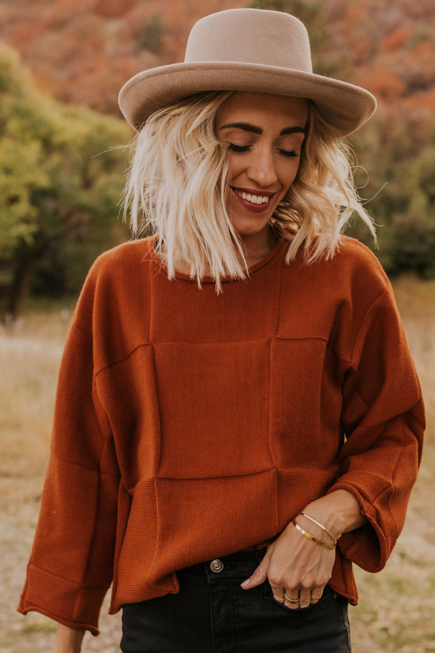 Textured Camel Sweater | ROOLEE