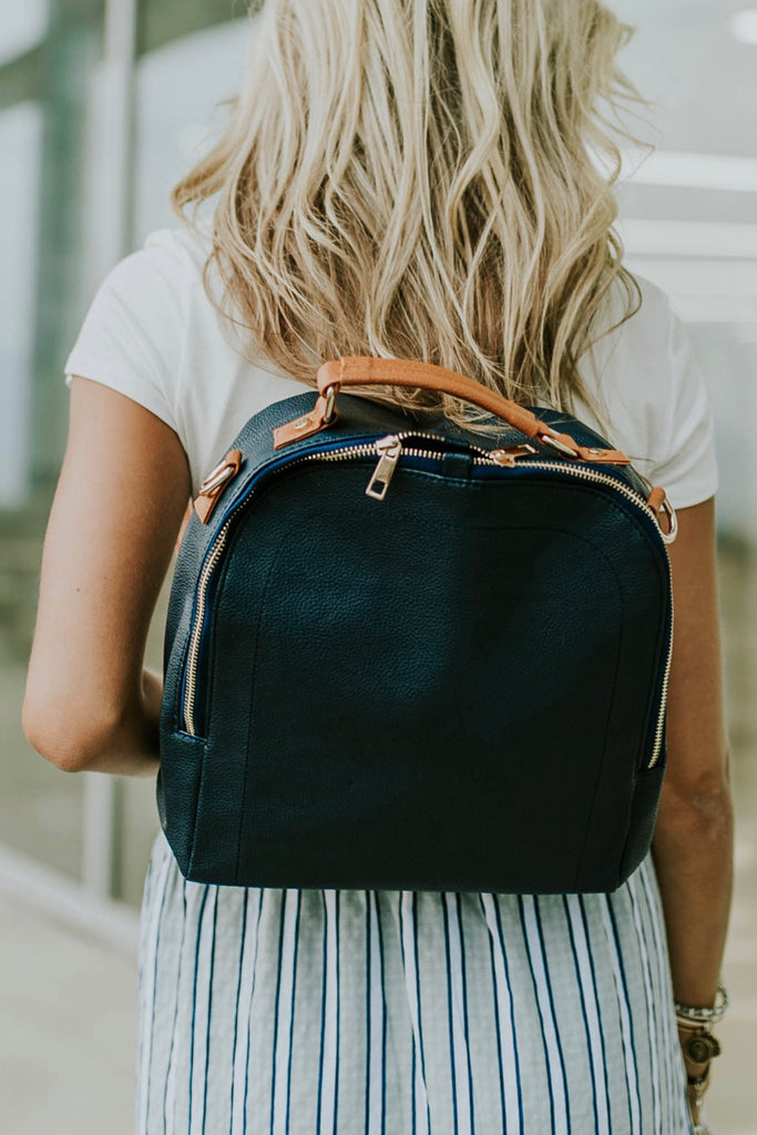 Little Manhattan Backpack in Navy | ROOLEE