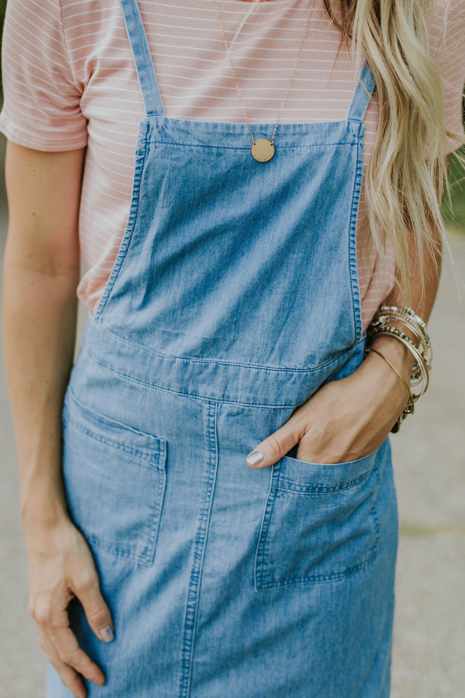 Denim Pocket Dress For Women | ROOLEE