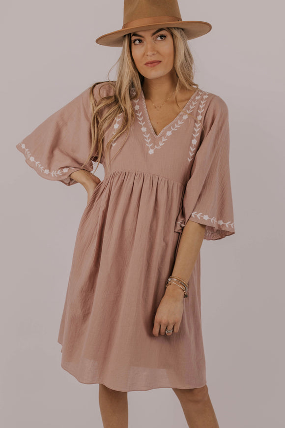 Embroidered Dres For Spring 2019 | ROOLEE
