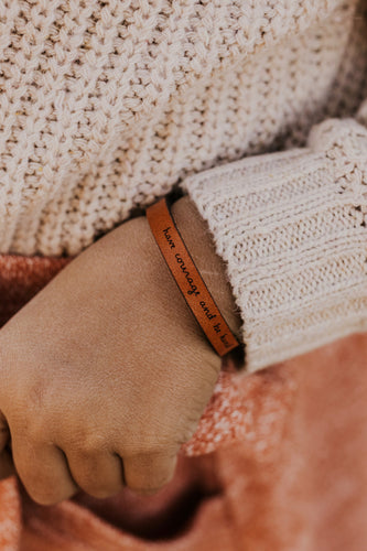 Mini Have Courage and Be Kind Leather Bracelet