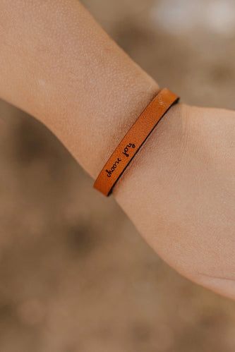 Mini Choose Joy Leather Bracelet