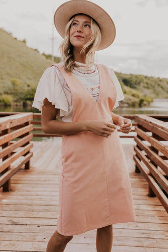 Pink Summer Jumper Dress | ROOLEE