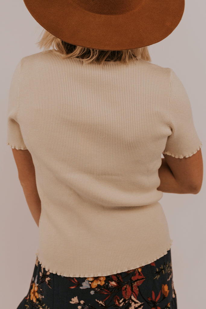 Top with Lettuce Edge Detailing | ROOLEE