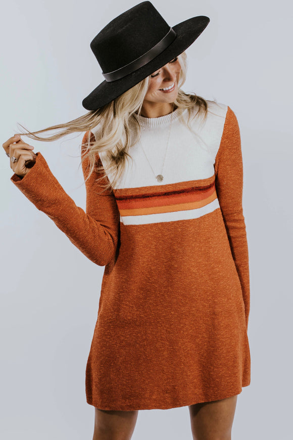 Free People Colorblock Swit Mini Dress | ROOLEE