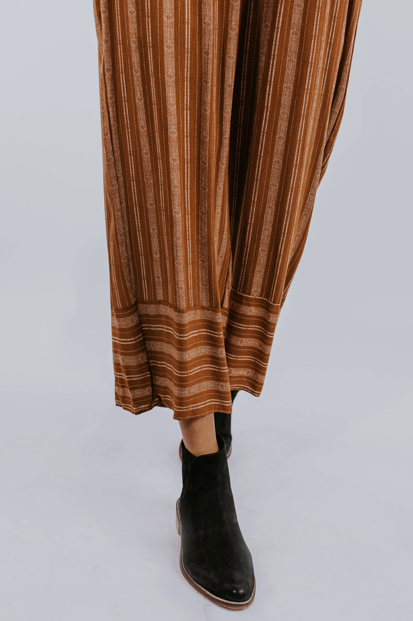 Striped Linen Pants for Fall | ROOLEE