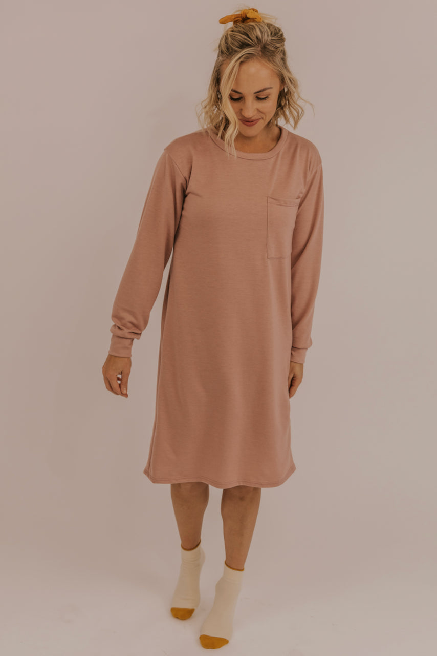 Light Pink Loungewear Dress | ROOLEE