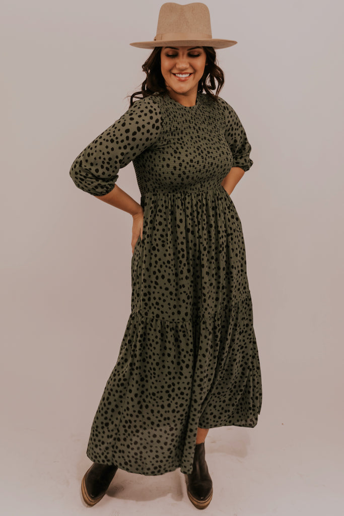 Cute Green Leopard Dress | ROOLEE