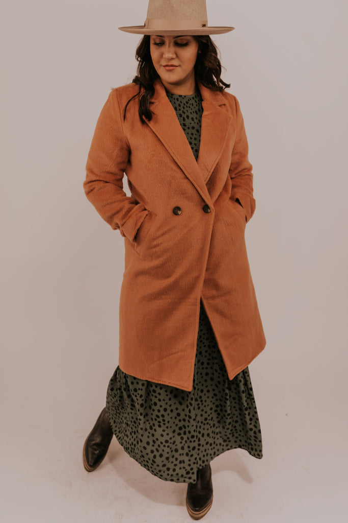 Single Button Coral Coat | ROOLEE