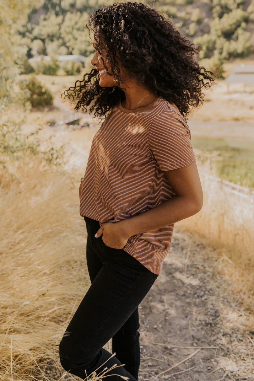 Simple Stripe Top for Women | ROOLEE