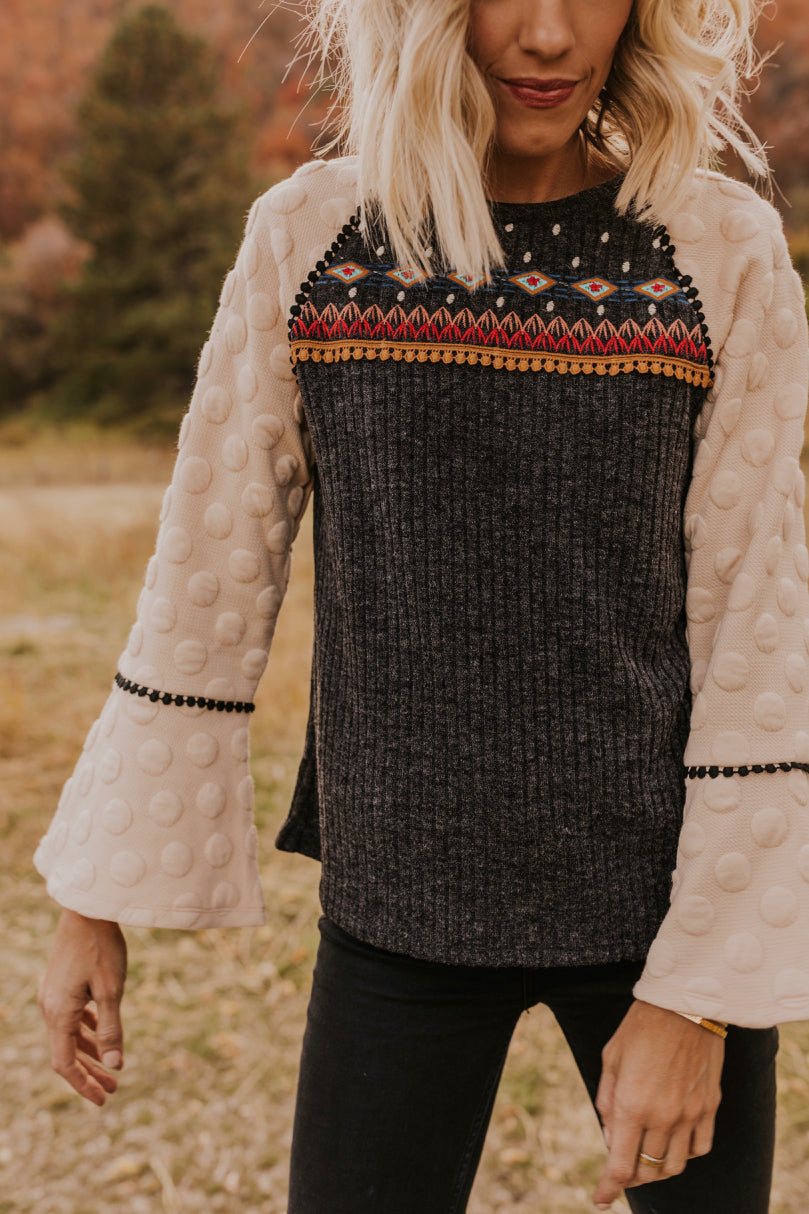 Printed Fall Cozy Sweater | ROOLEE