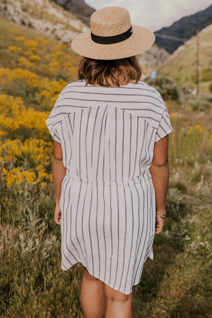 Women's Striped Swim Cover | ROOLEE