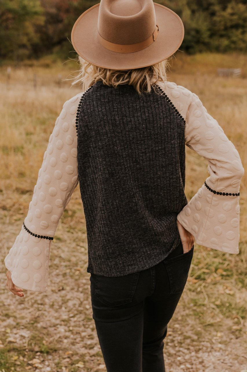 Cream and Grey Sweater for Women | ROOLEE