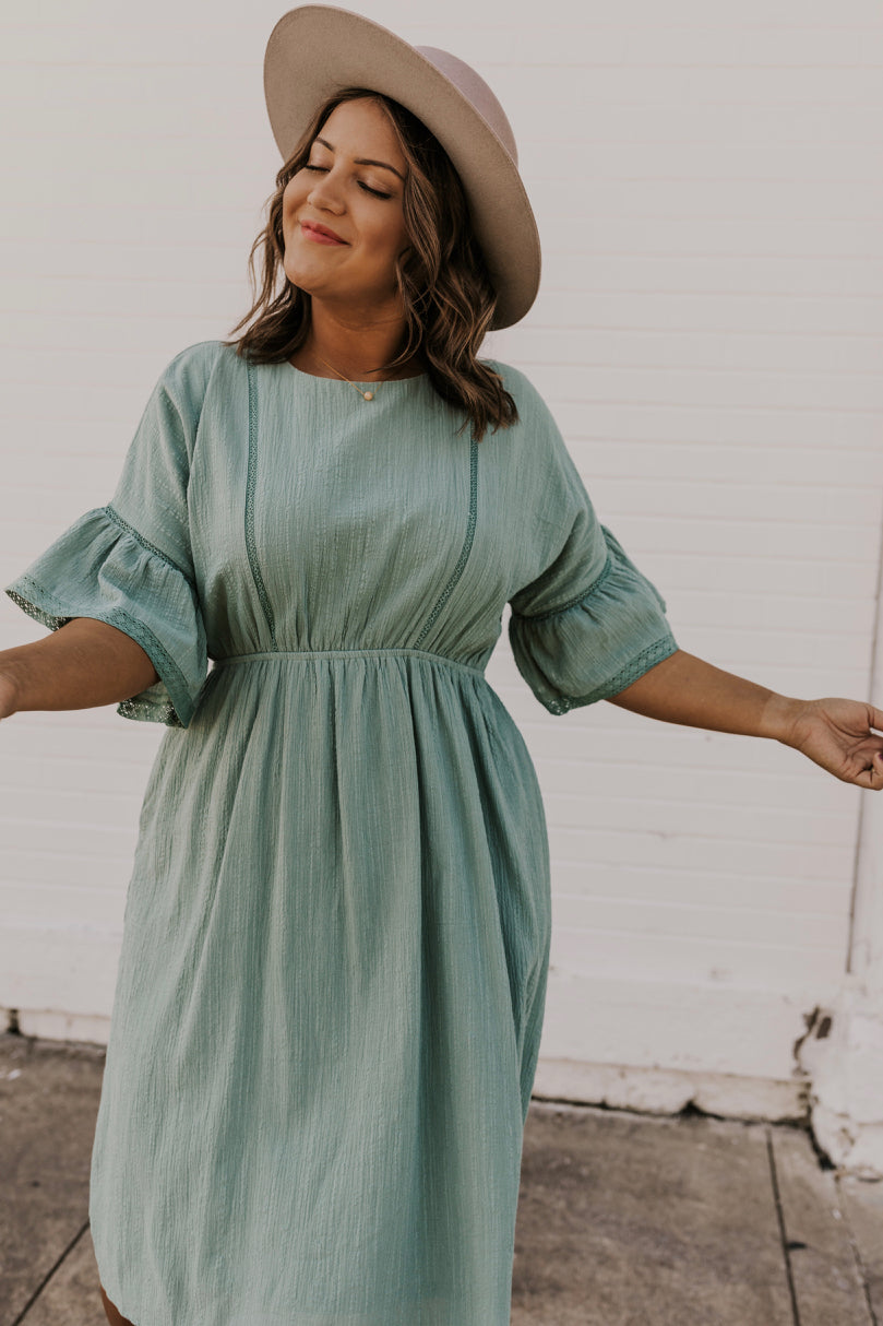 Simple Blue Dress | ROOLEE