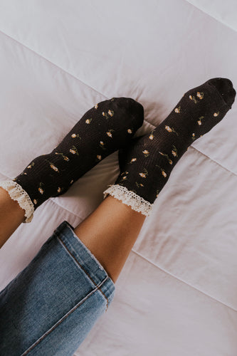 Free People Ditsy Darling Waffle Knit Socks