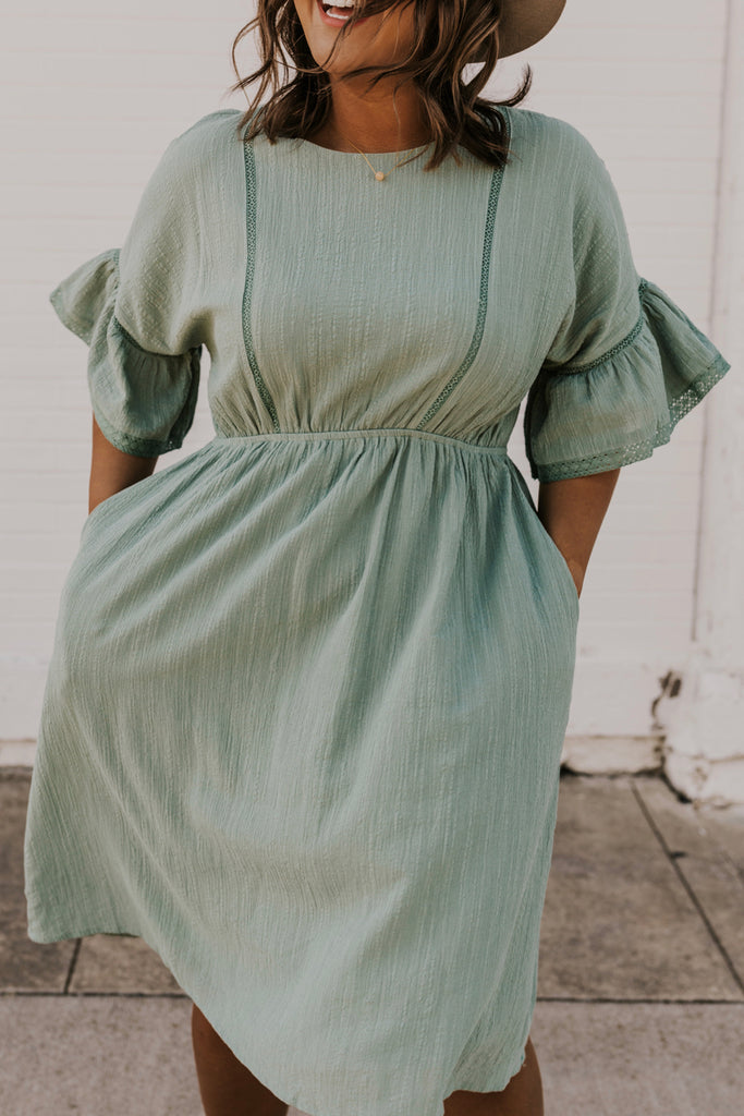 Textured Midi Dress | ROOLEE