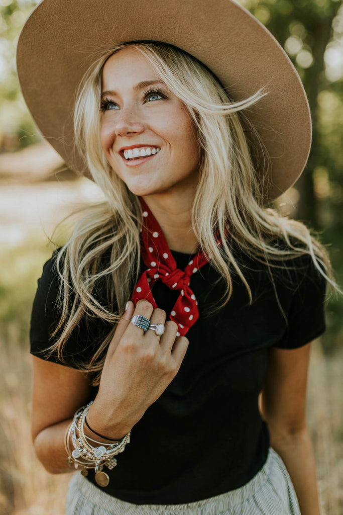 Red Polka Dot Ascot | ROOLEE