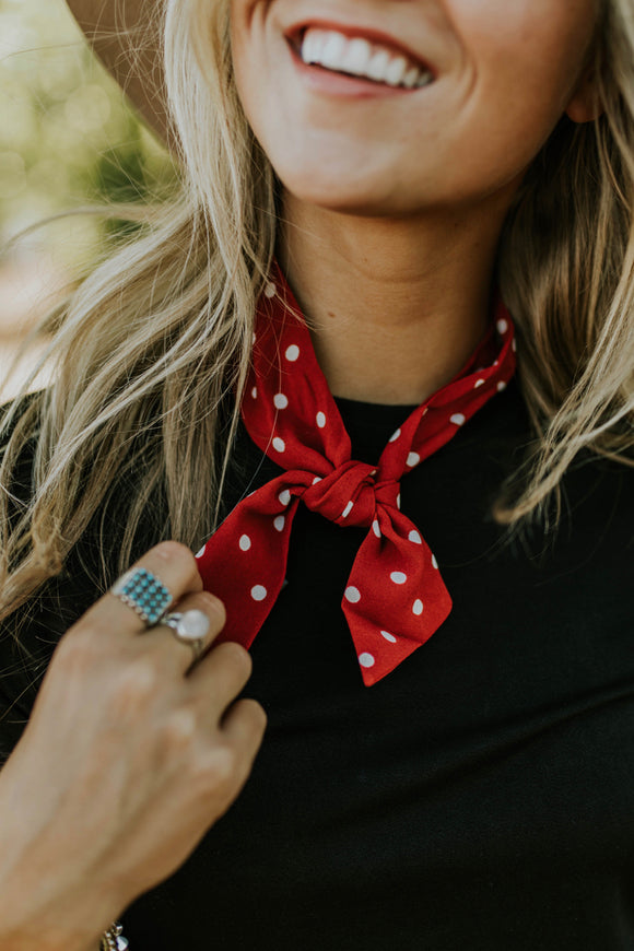 Minnie Polka Dot Ascot | ROOLEE