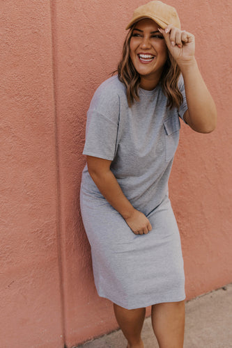 Grey Tee Shirt Dress | ROOLEE