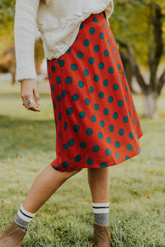 Fairfield Polka Dot Skirt | ROOLEE