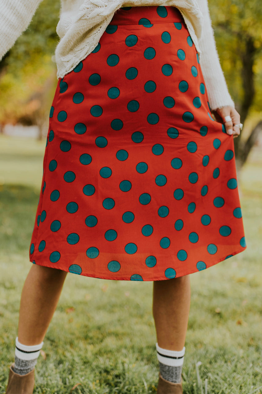 Bright Polka Dot Skirt | ROOLEE