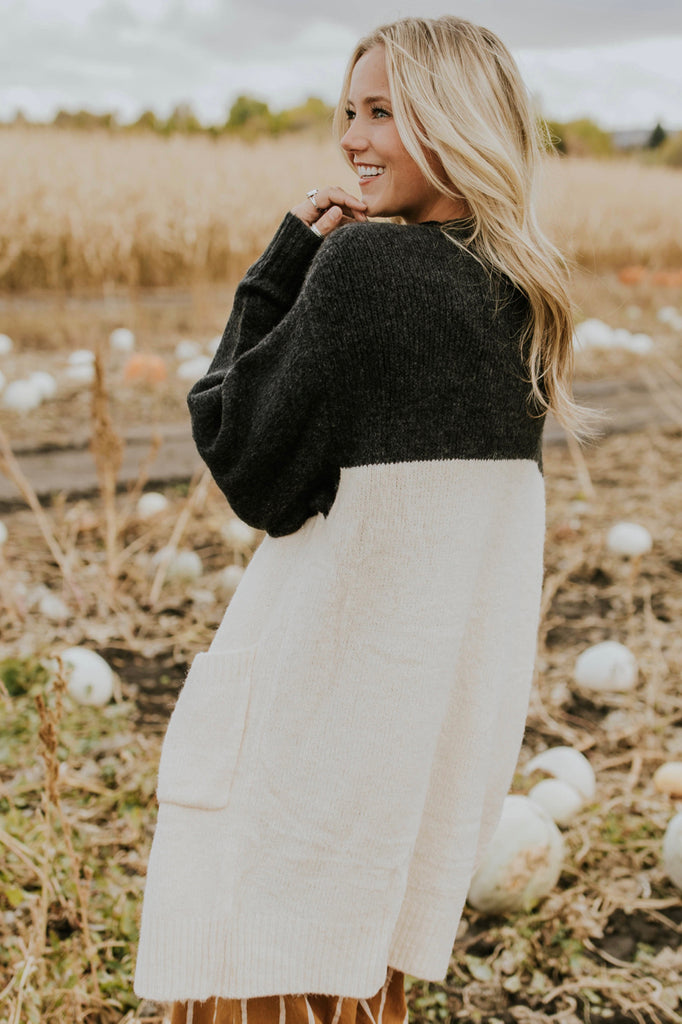 Cute Colorblock Cardigan for Fall | ROOLEE