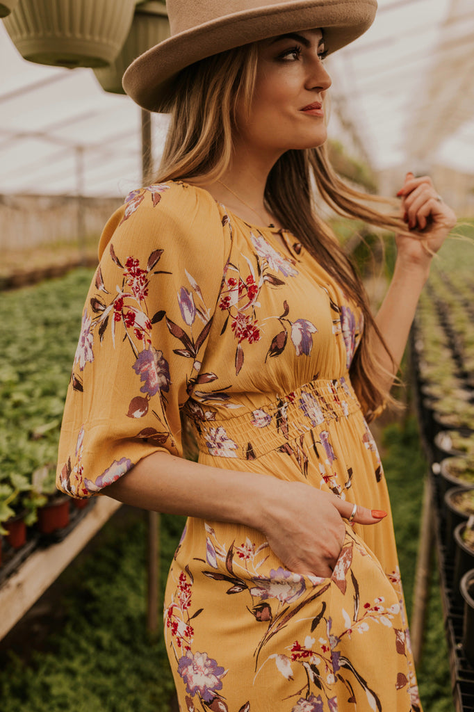 Floral Midi With Pockets | ROOLEE