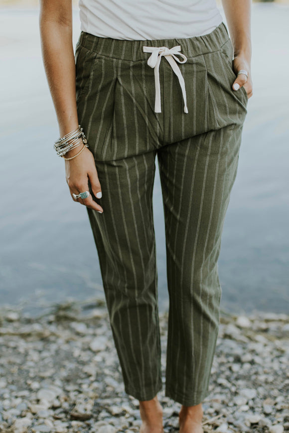 Montreal Pinstripe Pant | ROOLEE