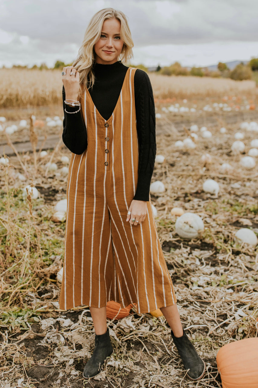 Cute Date Night Jumpsuit for Fall | ROOLEE