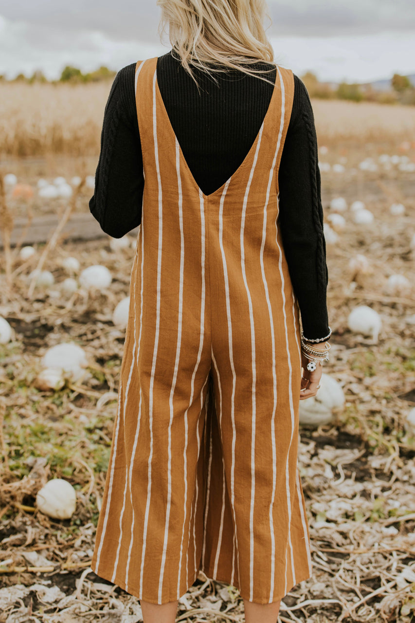 Camel Jumpsuit for Fall Outfits | ROOLEE