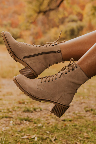 Tall Suede Tan Boot | ROOLEE